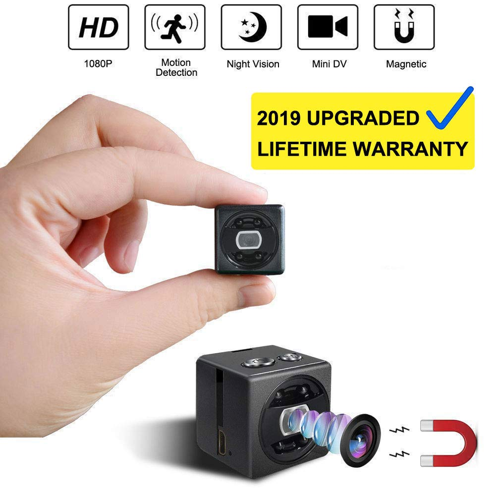 Mini Spy Hidden Camera cop cam - HD 1080P Portable Small Nanny Cam Surveillance Magnetic Security Camera with Night Vision/Motion Detection Perfect Indoor/Outdoor Surveillance Camera Home Car Office by Blaikepcam