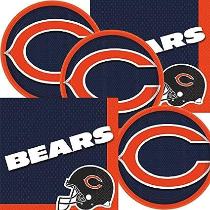Amazon Com Chicago Bears Nfl Football Team Logo Plates And Napkins