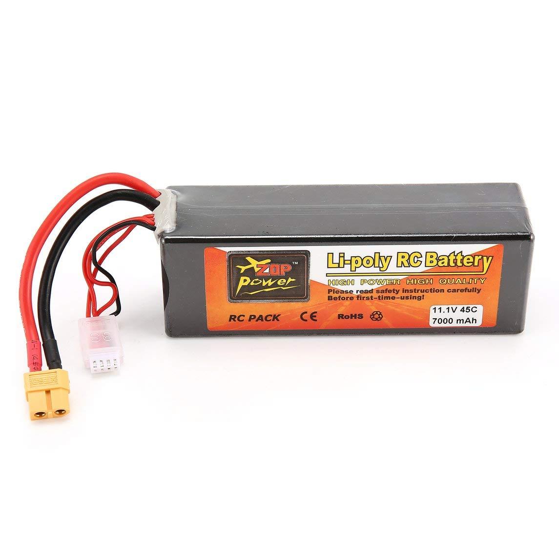 Footprintse batería para Drone;bateria para Drone;baterias para Drones ZOP Power 11.1V 7000mAh 45C 3S 1P Lipo Batería XT60 Plug para RC Drone Car ...