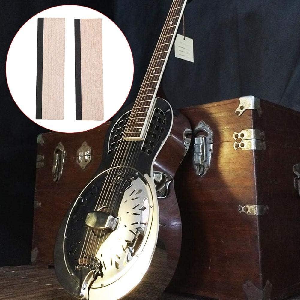 Acero Duro in Legno di Acero 2 Pezzi con Parti Superiori di Strumenti Musicali in Ebano Bnineteenteam Sella Dobro Guitar Bridge