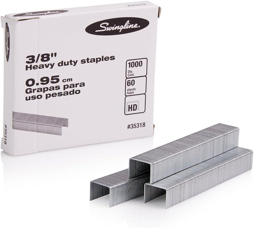 "Swingline Heavy Duty 60 Sheets 5,000 Staples per Box total 3 Box lot t 3//8/"" L"