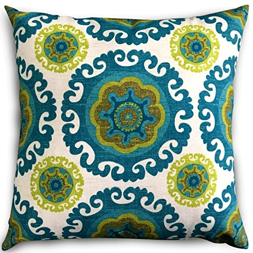 Decorative Square Pillows Floral Cushion