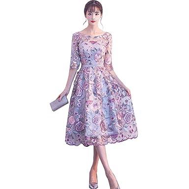410ee97aee256 ウエディングドレス ミモレ丈ドレス 膝丈ドレス ファスナー パーティードレス 結婚式ドレス 袖あり