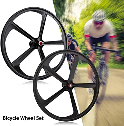 700c 5-Spoke Fixie Fixed Gear Single Speed Bike Front Mag Wheel Rim Black