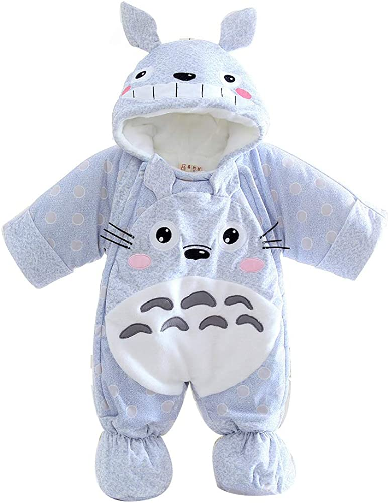 M/&A Baby Girls Snowsuit Cartoon Infant Babies Pram Bunting