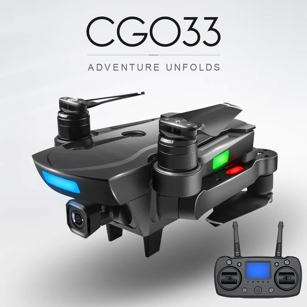 Jeeke CG033 Brushless 2.4G FPV WiFi HD 1080P Camera Drones with Cameradrones GPS Altitude Hold Quadcopter for Beginners - Shipping from USA