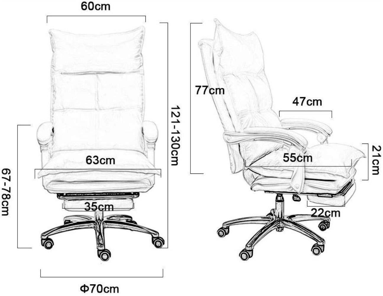 Barstolar Xiuyun kontorsstol spelstol datorstol verkställande svängbar stol PU skrivbordsstol 170 ° vilande med utökad legstöd och vilstol 10 cm justerbar höjd (färg: vit) gUL