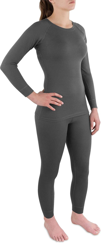 normani Damen warme Unterwäsche Sport-Ski-Thermo-Unterwäsche-Set mit Quick-Dry schnelltrocknendes Funktionsmaterial - ÖkoTex100