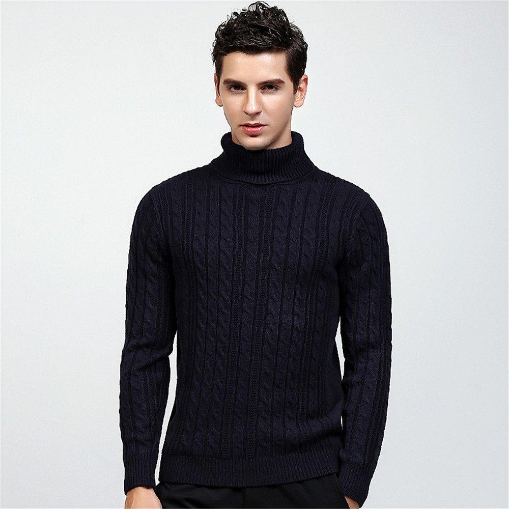 Jdfosvm männer - Pullover Hedging und Lange ärmel Pullover, Kopf hoch, diesen Pullover britischen Stil Pullover,Navy Blau,XXL