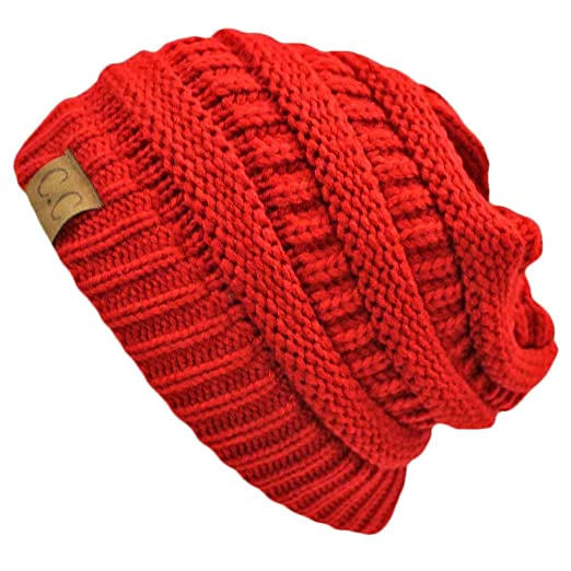 7fa674d057880c Luxury Divas Red Thick Slouchy Knit Oversize Beanie Cap Hat at Amazon  Women's Clothing store: Skull Caps