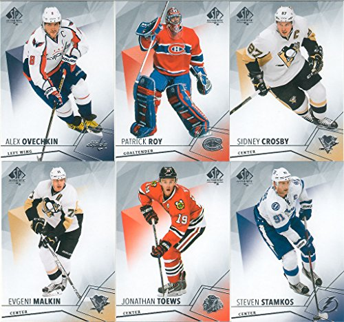 2015 2016 Upper Deck SP Authentic NHL Hockey Complete Mint Basic 100 Card Set with Patrick Roy, Alex Ovechkin, Sidney Crosby plus