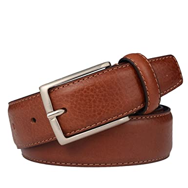 Image result for Belts for Men Dress Leather Belt for Business and Casual Clothing Single Prong Buckle with Gift Box