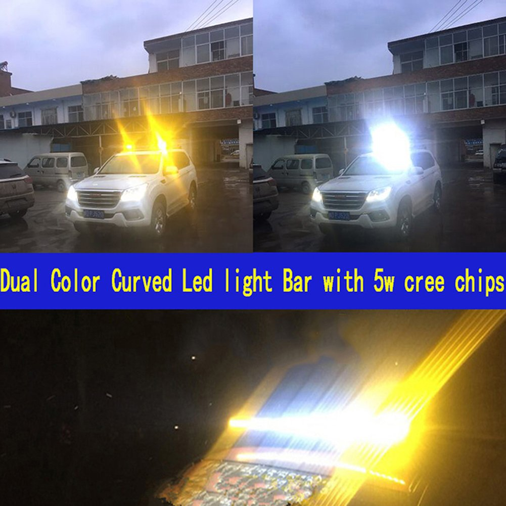 180W Spot 37.4 39.3inch 3D Mini Curved Single Row Led Light Bar High Bright Lux Cree Led Driving Working Offroad Light Car Jeep Ford F150 4WD UTV Truck 4x4 Vehicle 12V 24V Wire Harness Waterproof DSS Tuning