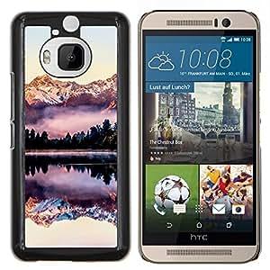 Eason Shop / Premium SLIM PC / Aliminium Casa Carcasa Funda Case Bandera Cover - Reflexión montañas Snow View - For HTC One M9+ M9 Plus