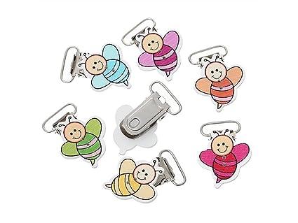 Clip de chupete 5pcs forma de la abeja bebé dentición ...