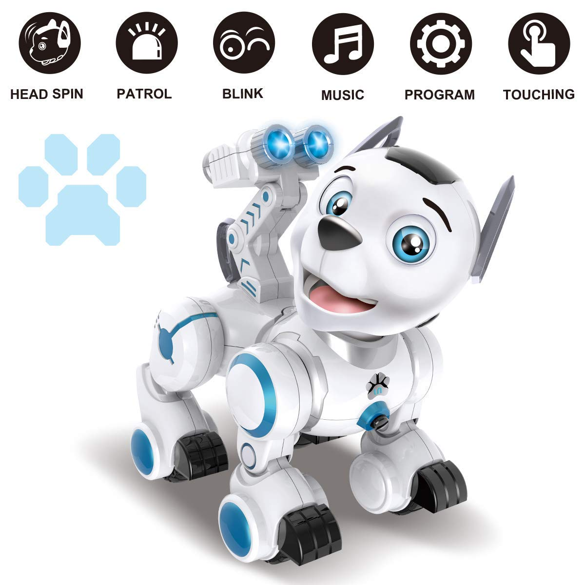 Bsmart toys Intelligent Hi-Tech Wireless Robot Dog ,Remote Control Educational Puppy Pet Best Birthday Gift for 5,6,7,8,9 Years Boys and Girls Interactive Robotic Friend by Bsmart toys (Image #4)