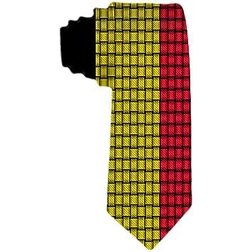 Corbata de seda de poliéster de la cinta de la bandera belga de la ...