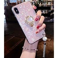 Lozeguyc - Funda para iPhone XS Max de lujo, con soporte para anillos, suave silicona TPU a prueba de golpes, carcasa de…
