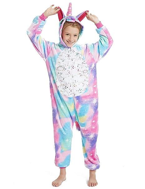 Amazon.com: Pijama de unicornio para niños, disfraz de ...