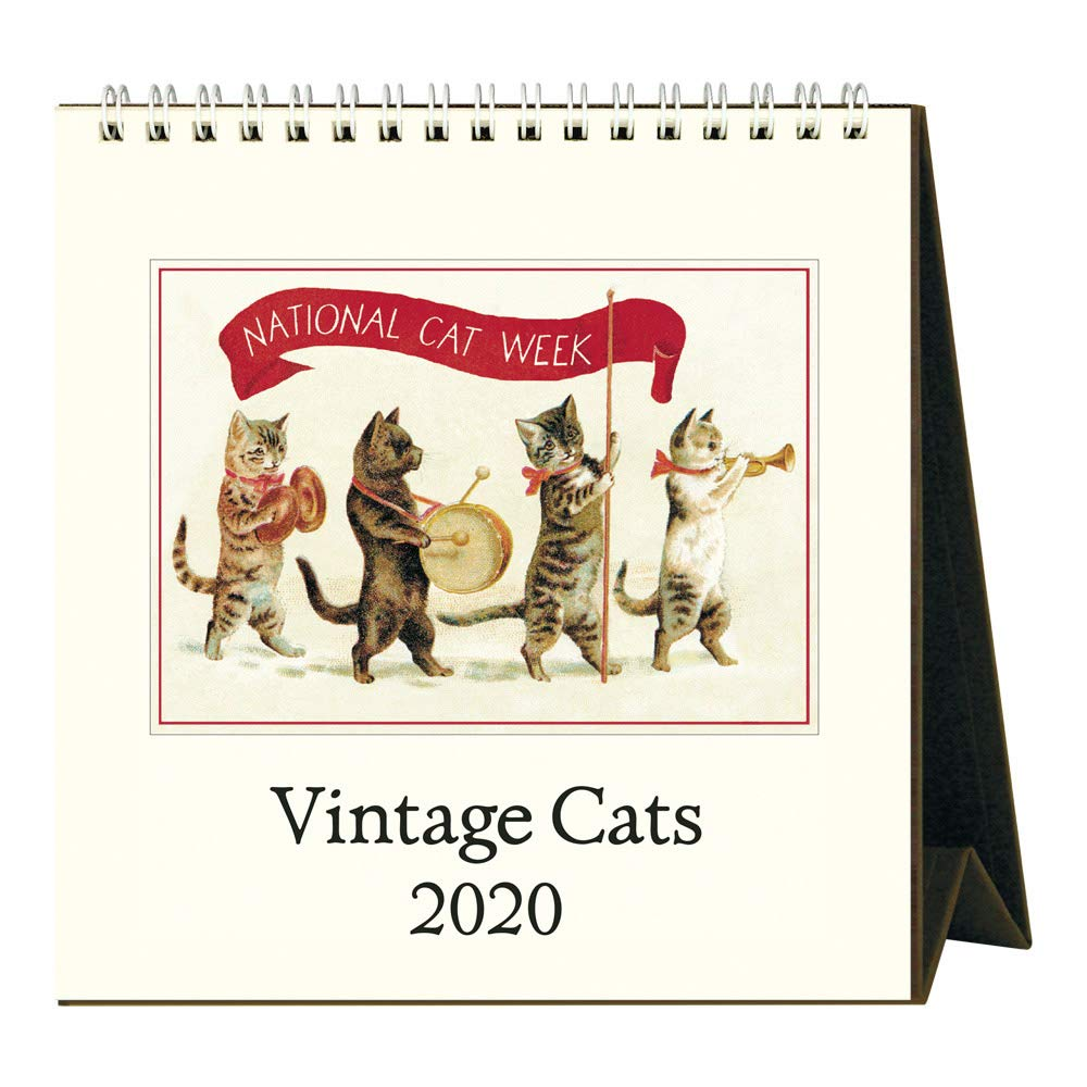 2020 Vintage Cats Desk Calendar by Cavallini Papers & Co.