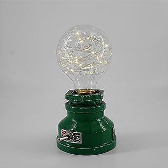 Vintage Mini Tischlampe Steampunk Metall Schreibtischlampe Antik E27