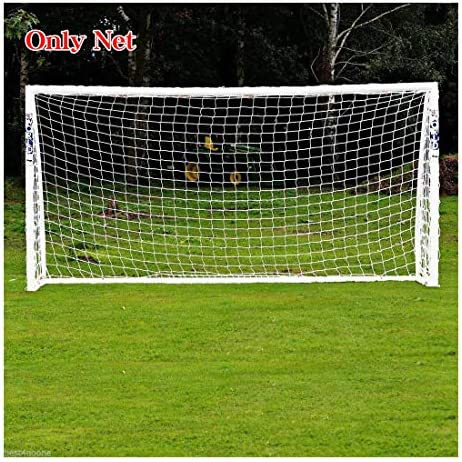 12 x 6FT Full Size Football Net PE Polyethylene Soccer Goal Post Training Match
