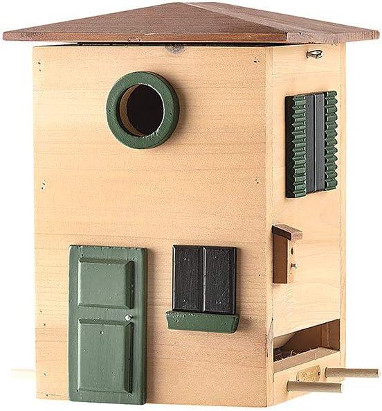 Gilde - Pajarera de madera para aves pequeñas, varios modelos y tamaños, madera, Mod. 10 - Altura: 25 cm., Höhe 25 cm Breite 20 cm Tiefe 18 cm