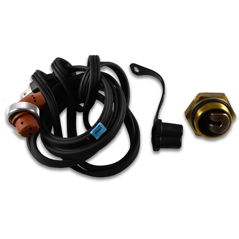Zerostart 3100105 Engine Block Immersion Heater for Chrysler, Dodge, Mercedes-Benz, Mercedes Freightliner Sprinter, 38mm Thread   CSA Approved   120 Volts   400 Watts