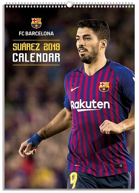Grupo Erik CPA3B19003 Erik Calendario BIMENSUAL FC Barcelona 2019 Luis Suarez, 30x42