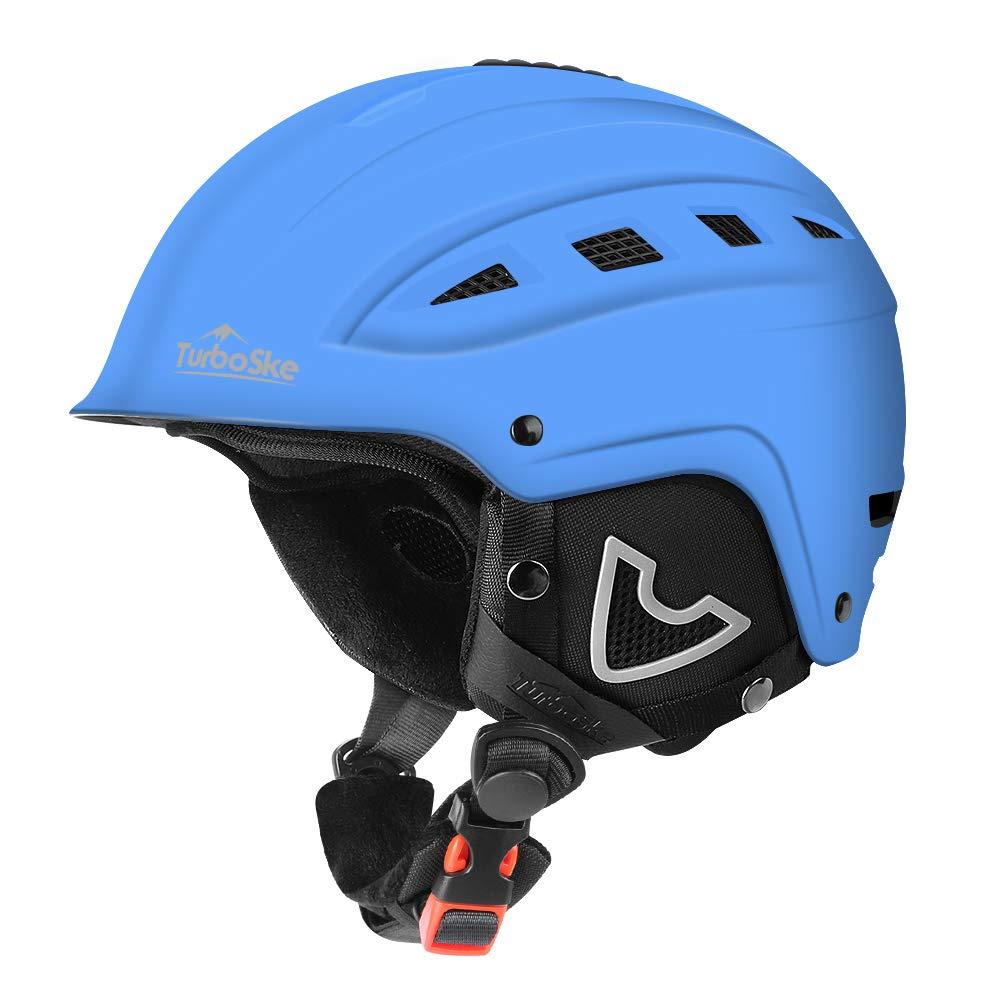 TurboSke Ski Helmet, Snow Sports Helmet, Snowboard Helmet Men Women Youth (Blue, S (19.5''-21'')) by TurboSke