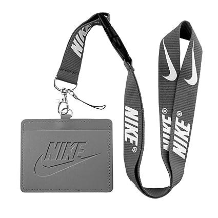 Nike gris sintética piel negocio insignia de identificación ...