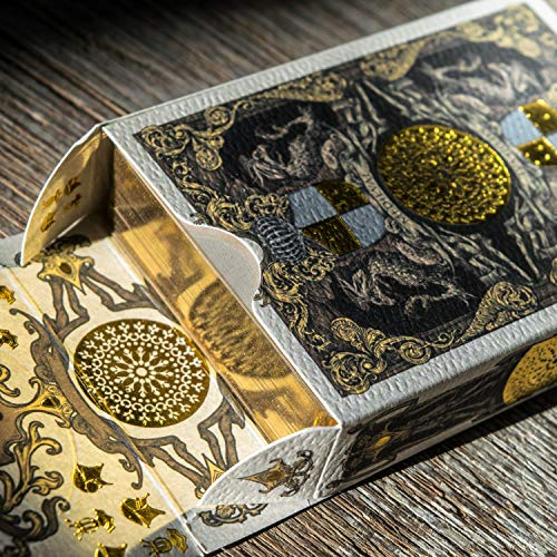(Medieval Royal Playing Cards, Gold Deck of Cards, Cool Magic Cards, Best Poker Cards, Unique Illustrated Foil Colors for Kids & Adults, Playing Card Decks Games, Standard Size)