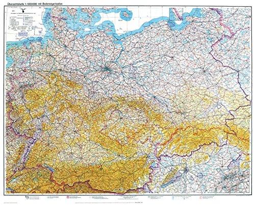 Historische Übersichtskarte: DEUTSCHLAND [Deutsches Reich] - Stand 8. Februar 1940 [mit Bodenorganisation Luftwaffe 1938]