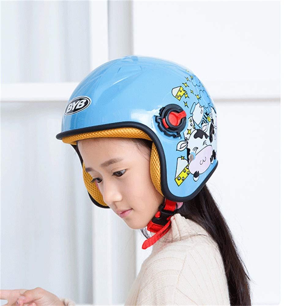Helm Geyao Kinder Motorradhelm Cartoon Herbst und Winter Half Cute Saison Elektroauto Color : B
