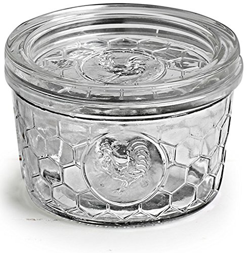 Circleware Rooster Yorkshire Mason Glass Jars Glass with Glass Lids, 12 Ounce, Set of 4, Limtited Edition Glassware Serveware by Circleware (Image #5)