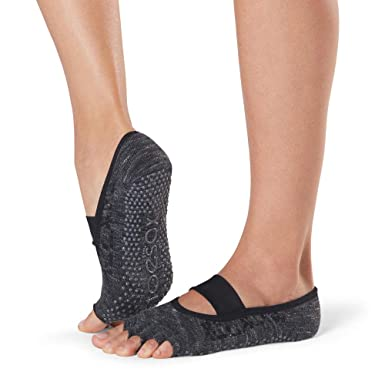 Toesox Grip Pilates Barre Socks-Non-Slip MIA Half Toe for ...