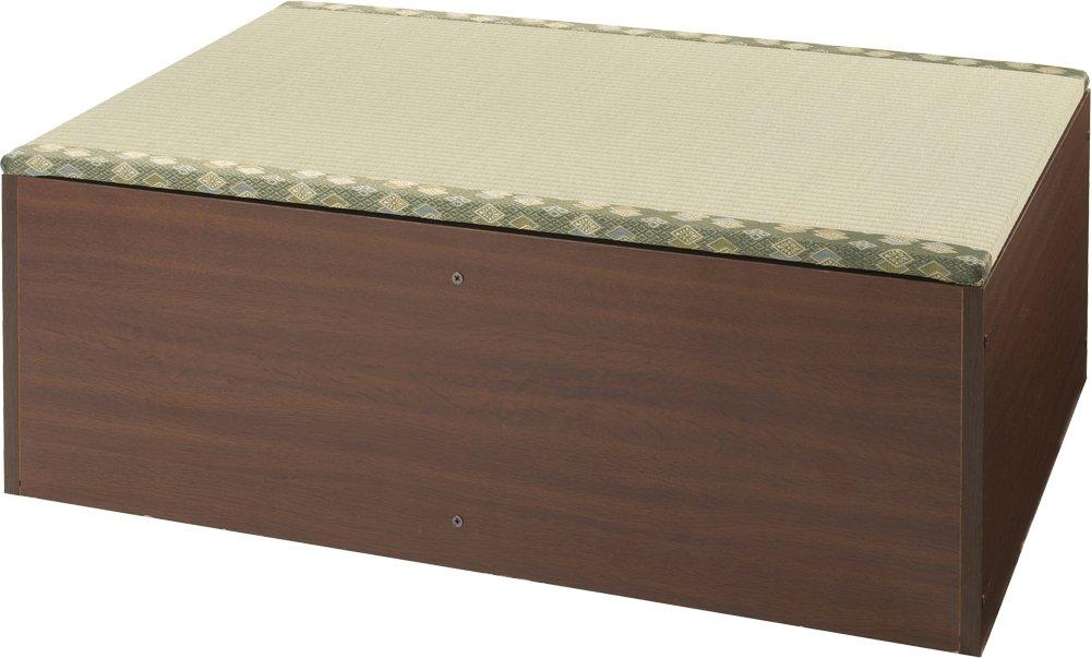日本製 畳ユニット ロータイプ W90xD60xH31.5cm ブラウン TY-L90-BR B016Z8RYYK 幅90cmタイプ|ブラウン ブラウン 幅90cmタイプ