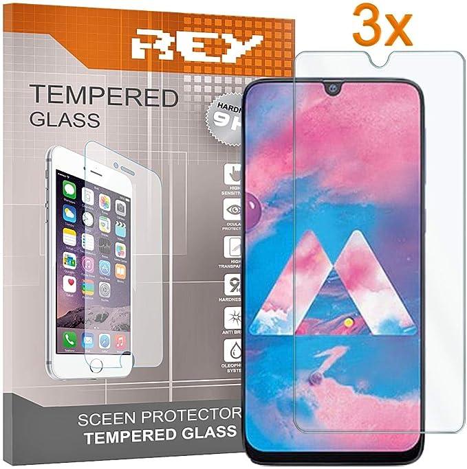 REY 3X Protector de Pantalla para Samsung Galaxy M30: Amazon.es ...