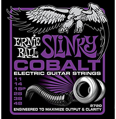 Amazon.com: CUERDAS GUITARRA ELECTRICA - Ernie Ball (2720) Slinky Cobalt Power Color Violeta (Juego 012/048): Musical Instruments