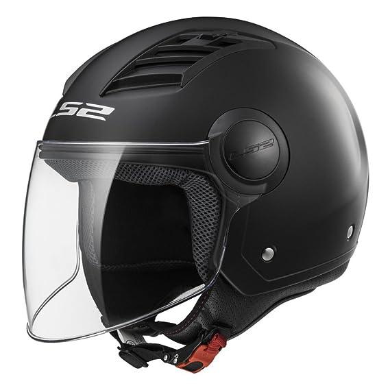 Amazon.es: Casco abierto para moto LS2 Airflow L negro brillo (XL)