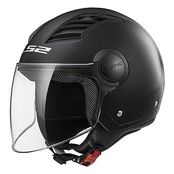 Casco abierto para moto LS2 Airflow L negro brillo (XL)