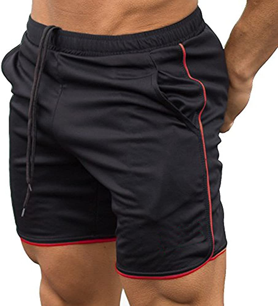 EVERWORTH Mens Gym Workout Boxing Shorts Running Short Pants Fitted Training Bodybuilding Jogger Short
