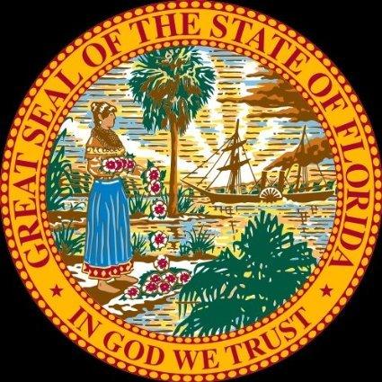 - Sticker / Decal - JDM - Die cut - Florida FL State Seal Bumper Sticker 101mmx101mm