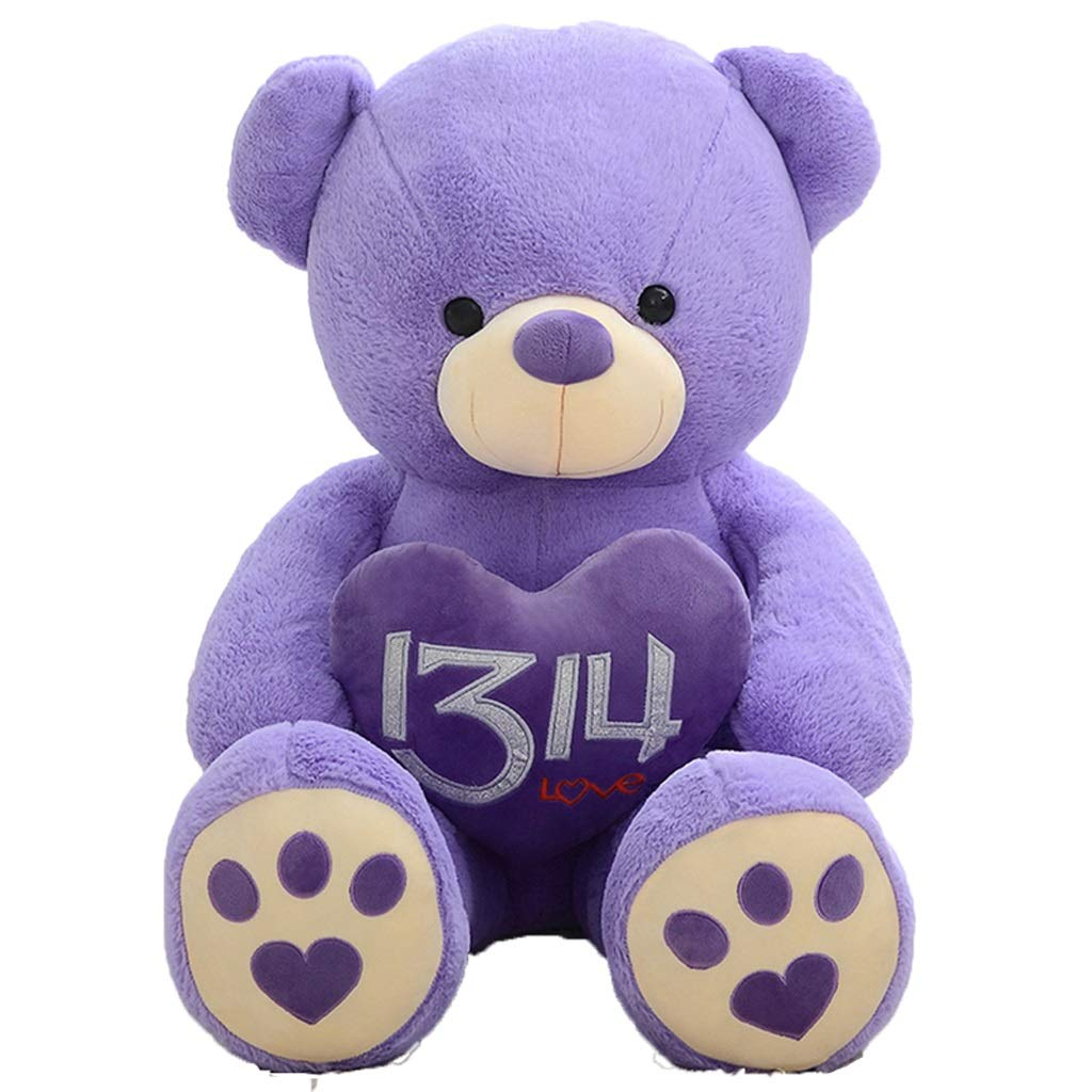 Zhijie-wanju Oso de Peluche L Tamaño 100 cm Niños Peluches de Felpa Suave Grande Grande Gigante Niño Juguetes Muñecas (Color : Purple)