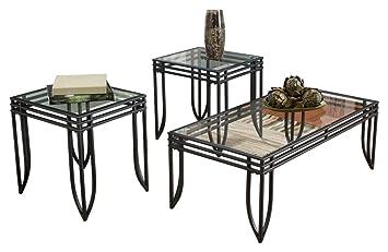 Amazon Com Ashley Furniture Signature Design Exeter Glass Top
