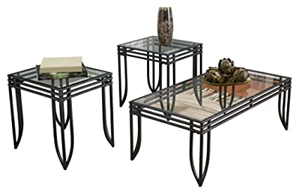 Amazon Com Ashley Furniture Signature Design Exeter Glass Top