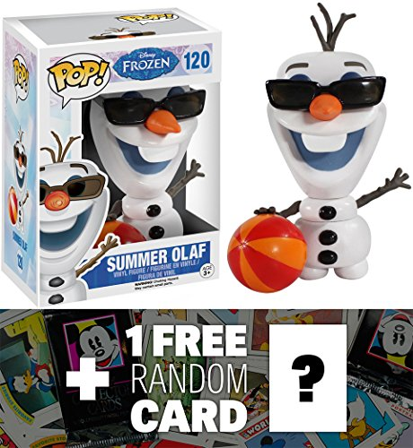 Summer Olaf: Funko POP! x Disney Frozen Vinyl Figure + 1 FREE Classic Disney Trading Card Bundle [48341]