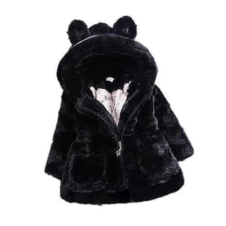 tangbasi® diseño de orejas de oso bebé niñas abrigos con capucha capa invierno cálido abrigo