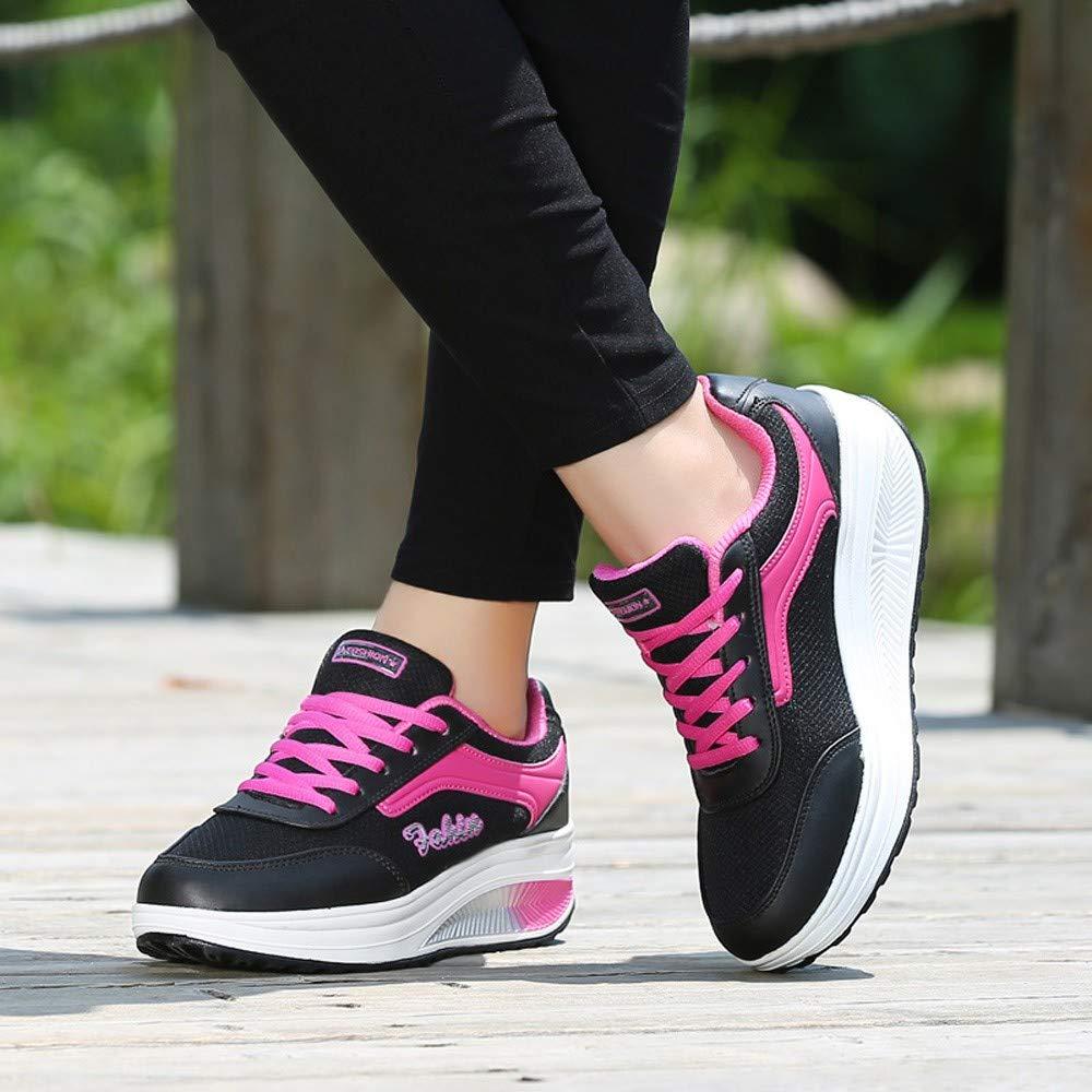 8e62b492e0574 Beikoard Sneakers Donna con Zeppa Paillettes Scarpe Stringate Scarpe  Fashion Scarpe Sportive da Donna  Amazon.it  Abbigliamento