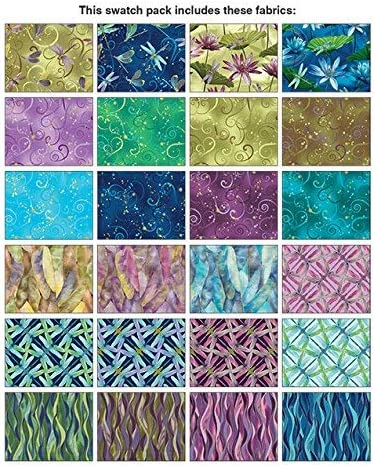 "Dance of the DragonFly Fabric Layered Cake 42 10/"" squares Cotton quilt Precut"